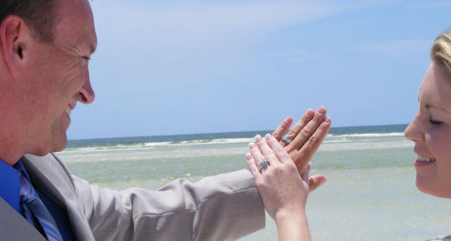 Married on a beach